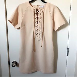 peach english factory tie lace up dress shopbop S